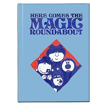 The Magic Roundabout Retro Blue Tone Diamond Hardback Journal