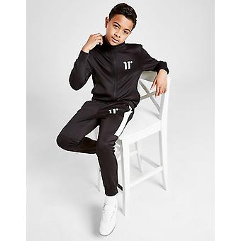 New 11 Degrees Boys' Cut & Sew Poly Tracksuit from JD Outlet Black