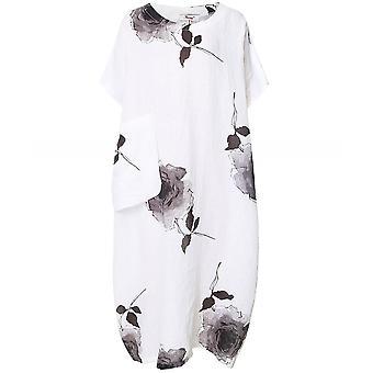 Thanny Linen Rose Print Dress
