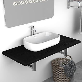 vidaXL Bathroom Furniture Black 90×40×16.3 cm