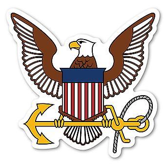"Magnet, United States Navy Logo Magnet, Usn, 4.75"" X 4.75"""