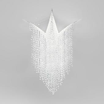 Diseñador LED integrado techo de cristal luz blanca mate