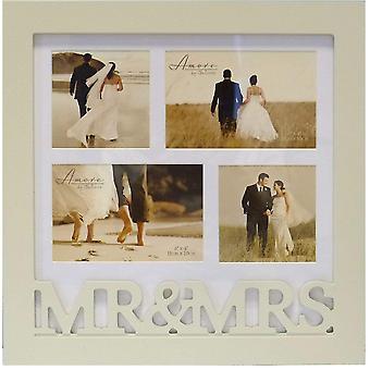 Amore Mr & Mrs Multi Collage Photo Frame