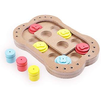 Shuffle Bone Puzzle Toy, Intelligence Training Feeder Dispenser