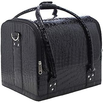 Gerui Faux Leather Cosmetic Case Make up Storage Bag Vanity Case Organiser for Makeup Nail