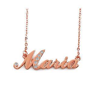 KL Maria Custom Name 18-karat Rose Forgyldt halskæde Justerbar Kæde 16 19 cm gratis gaveæske.