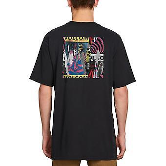 Volcom Wheat Paste camiseta de manga corta en negro