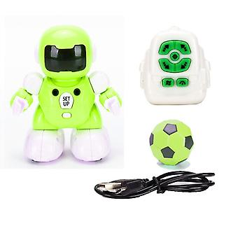 New Toy RC Football Robot Programable Remote USB Charging Smart Robots Toy Gifts for Kid(Green)