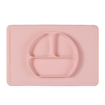 Smiley rose plaque de silicone une pièce plaque pour enfants antidérapante dt7804
