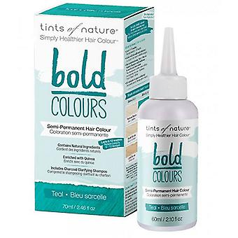 Tints of Nature Semi-Permanent Hair Color, Bold Teal 2.46 Oz