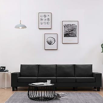 vidaXL 4-Sitzer-Sofa Schwarz Stoff