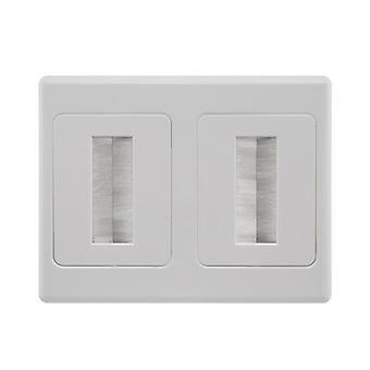 Placa de pared pro2 de doble cepillo