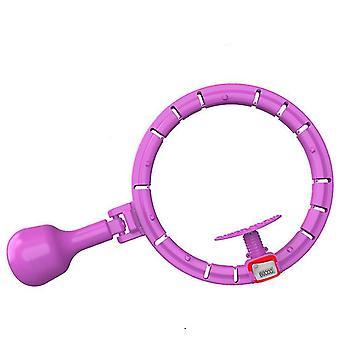 Universal Counting Smart Hula Vanne irrotettavalla palloharjoituksen hularenkaalla (violetti)