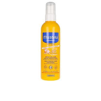 Solkremspray for barn Bébé Sol Mustela Spf 50+ (200 ml)