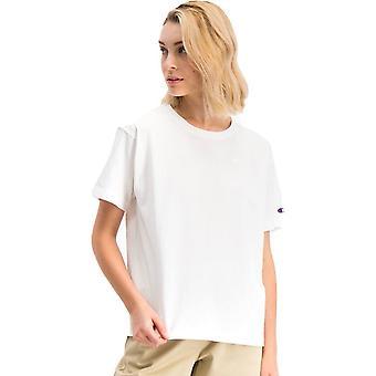 Champion Reverse Weave Small Script Logo Crewneck 112732WW001 universal all year women t-shirt