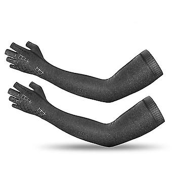 Sports Arm Sleeve Gloves Breathable Elasticity Running Hiking Sleeves Warmer