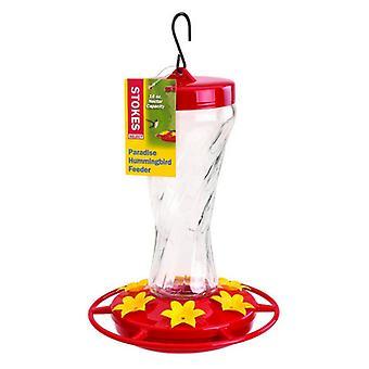 More Birds Paradise Glass Hummingbird feeder - 16 oz capacity