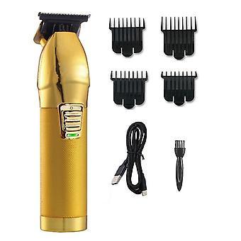 Hair Clipper Beard Trimmer For Men Barber Baldhead Clippers Hair Cutting Machine(golden)