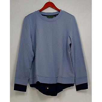 C. Wonder Sweater Brushed French Terry Long Sleeve Blue