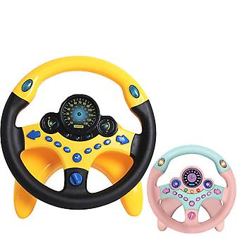 Driving Direction Baby Interactive Toy With Light Sound Simulation Driving Toy Simulation Steering Wheel Educational Toy Gift