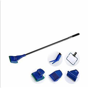 Kompletní 5 v 1 Akvárium Rybí nádrž Čistící sada Rybí nádrž + Rake + Škrabka + vidlice + Sponge Brush Glass Aquarium Cleaner Tool Kit
