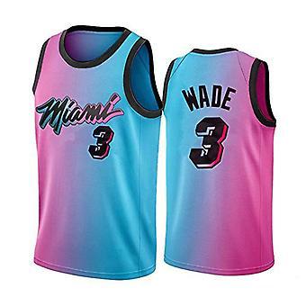 Miami Heat Dwyane Tyrone Wade #3 Menn Basketball Jersey No.3 Sport Skjorter Ermeløs T-skjorte