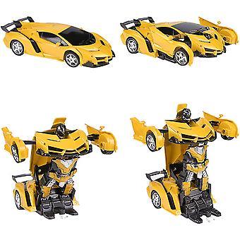 Telecomando Auto Rc Trasformatore Robot Auto 360 Rotazione Frenata Ricaricabile Bambini Giocattolo Auto