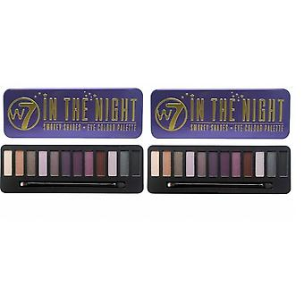 W7 In the Night EyeShadow Palette (2-Pack)
