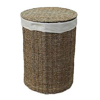 Small Seagrass Round Laundry Basket