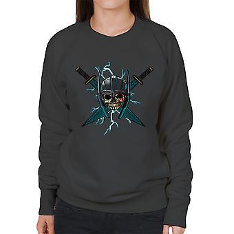 Ragnarok Thor Skull Cross zwaarden vrouw Sweatshirt