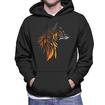 Fox Cutout skriva ut Mäns Hooded Sweatshirt