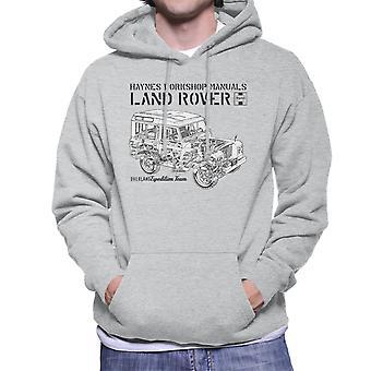 Haynes Owners Workshop Manual Land Rover Overland Black Men's Hooded Sweatshirt