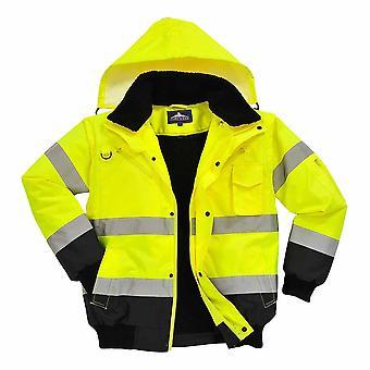Portwest - HI-Vis Bomberjacke aus Sicherheit Workwear Kontrast