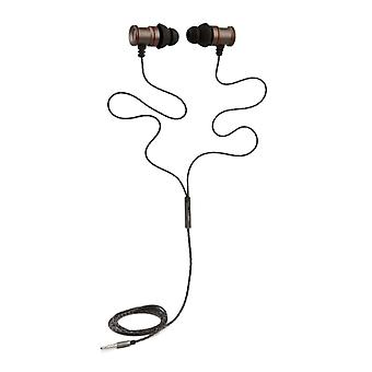 REYTID In-Ear Earphones Headphones - HD Sound - DEEP Bass with Metal 1-button Mic - Compatible with iPhone and Android - Grey