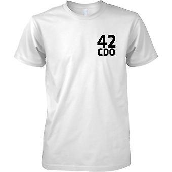 Lizenzierte MOD - Royal Marines 42 Cdo - Text - Kinder Brust Design T-Shirt