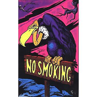 Svart lys - ingen røyking gribb plakat plakatutskrift