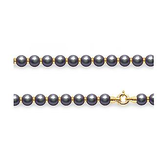 Ras neck necklace Woman in Black Cultured Pearls and Yellow Gold Pearls 750/1000 5917
