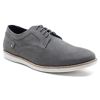 Red Tape Holker Mens Grey Suede Casual Lace-Up Shoes
