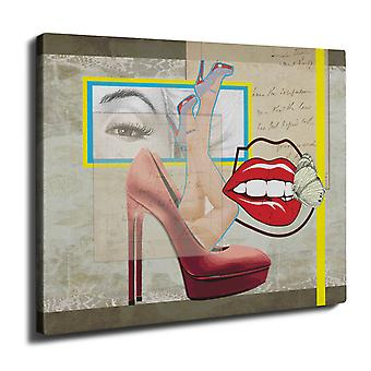 Fashion Stylish Wall Art Canvas 40cm x 30cm | Wellcoda