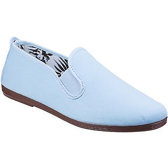 Seidig Damen/Damen Arnedo Slip-On Canvas Casual Sommer Pumps Schuhe