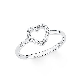 s.Oliver jewel ladies ring silver cubic zirconia SO PURE heart 201725