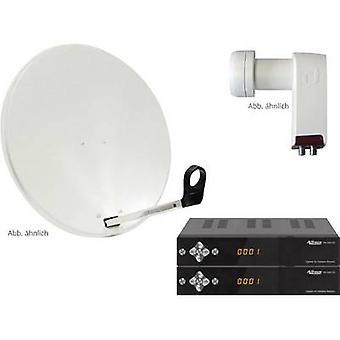 AllVision SAH 2000/60 HD-SAT-Anlage + Empfänger Anzahl Teilnehmer 2 60 cm