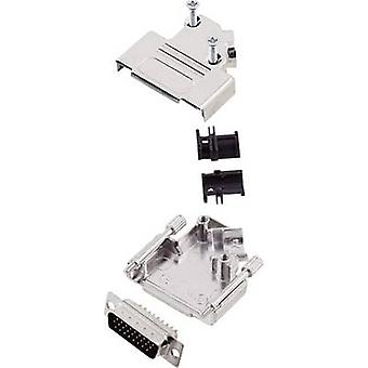 encitech D45ZK15-HDP26-K 6355-0013-02 D-SUB PIN Strip set 45 ° antal stift: 26 Lödskopa 1 set