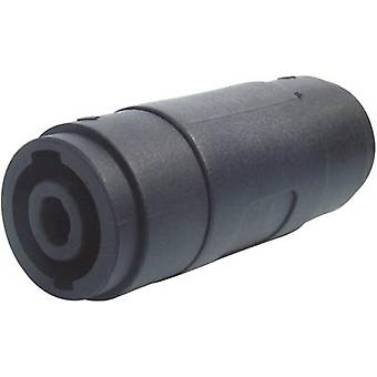 Paccs Speakon adapter [1x Speakon socket-1x Speakon socket] zwart