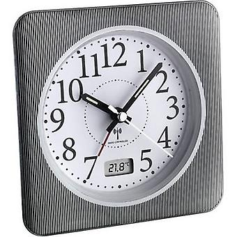 TFA Dostmann 60.1502.10 wekker radio grijs, wit alarm tijden 1