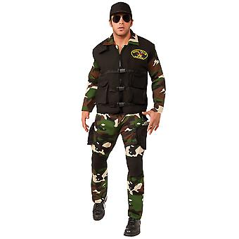 Seal Team 3 Army Military Navy Soldier Combat Police Uniform Mens Costume STD