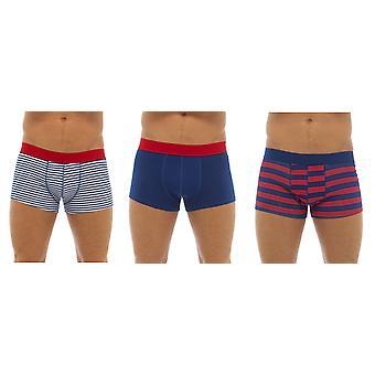 Tom Franks Hipster de algodón para hombre Boxer tronco corto (Pack de 3)