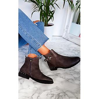 IKRUSH Womens Izzy Studded Ankle Boots