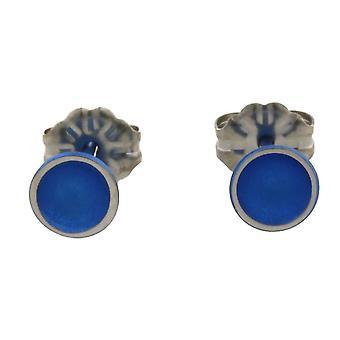 TI2 Titanium kleine Kuppel Ohrstecker - Marineblau