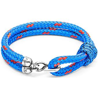 Anchor and Crew Great Yarmouth Silver and Rope Bracelet - Blue